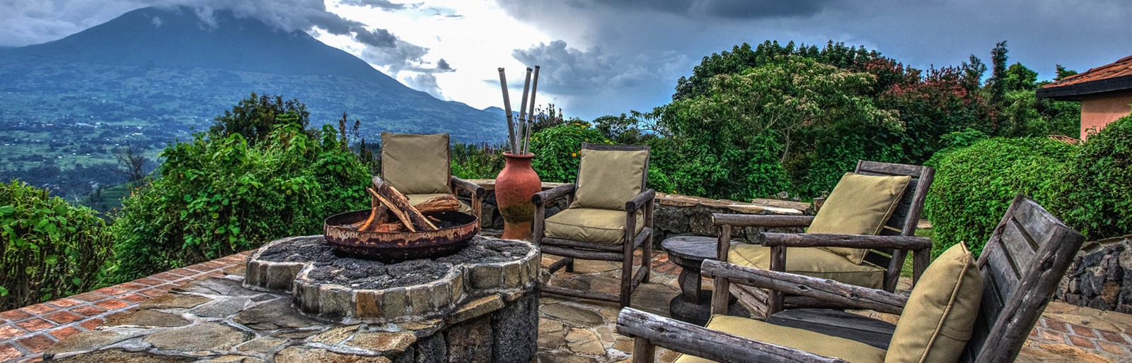 Virunga Lodge in the Volcanoes National Park in Rwanda
