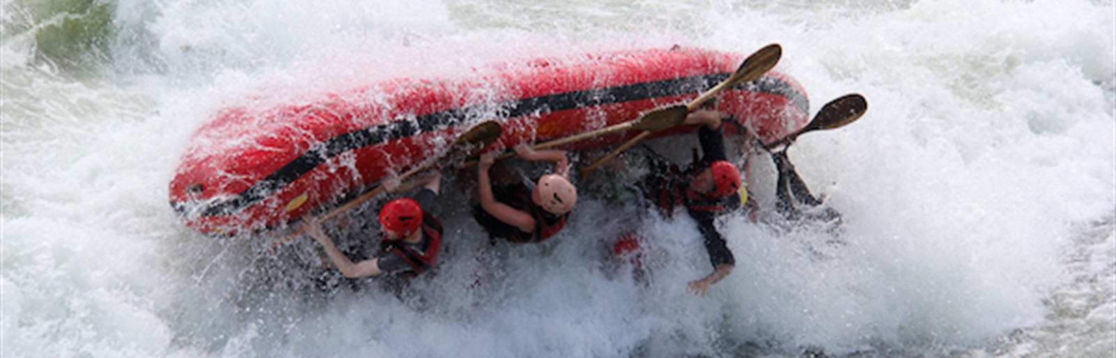 Flipping is the Top excitment of the day -  Rafting on the River Nile - Uganda