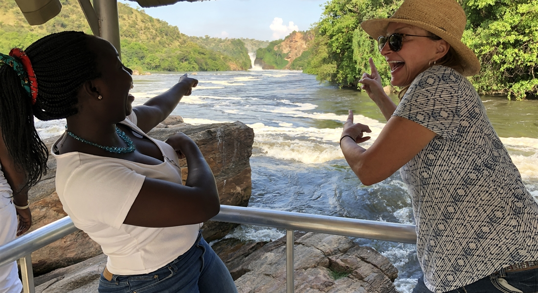 Boat cruise at Murchison Falls